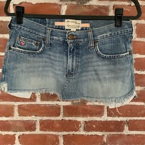 OLD Abercrombie & Fitch cut off jean skirt 2